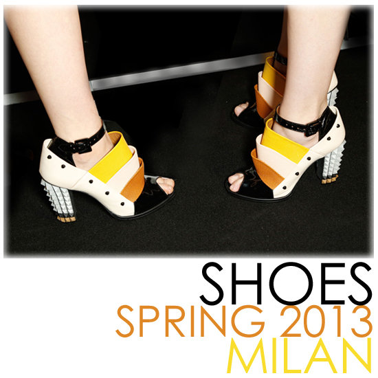 All the Scene-Stealing Shoes From Milan's Spring 2013 Shows