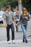 Jason Sudeikis and girlfriend Olivia Wilde strolled the streets of the West Village in New York on September 18.