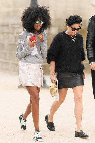 Julia Sarr-Jamois worked an athletic play on her mini with a pair of Nikes.