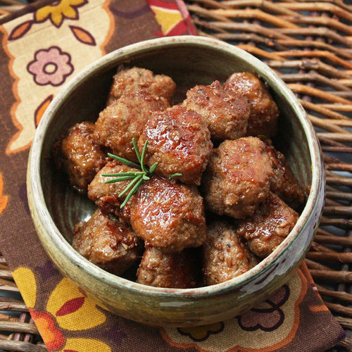 Bourbon Cider Glazed Turkey Meatballs