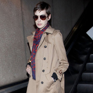 Anne Hathaway Wearing a Trench Coat