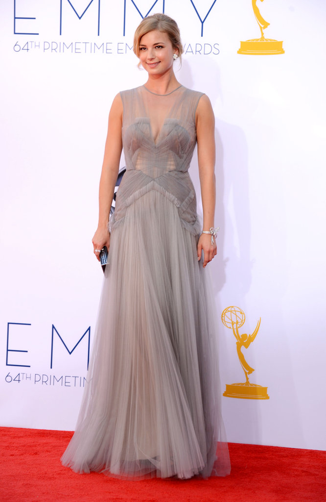 Revenge star Emily VanCamp presented at the Emmys.