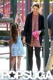 Katie Holmes played around with Suri at the playground.