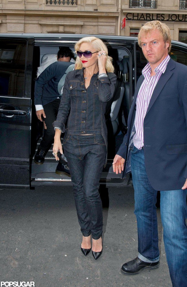 Gwen Stefani Models Denim on Denim in Paris