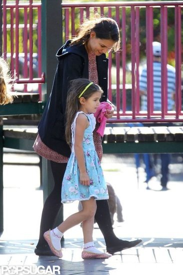 Katie Holmes and Suri Cruise hung out in Brooklyn.