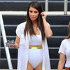 Kim Kardashian in a White Swimsuit | Pictures