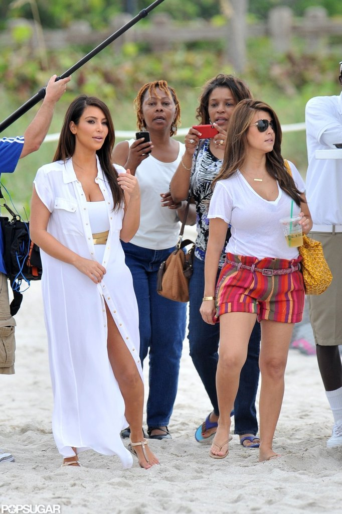 Kim Kardashian Creates a Swimsuit Scene in Miami