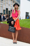 Chiara Ferragni mixes bright pinks and oranges with a ladylike edge. Source: IMAXtree