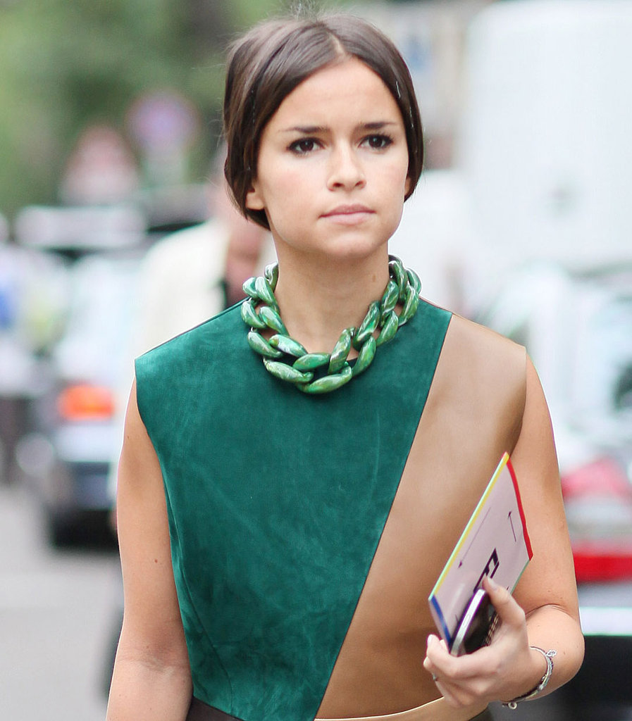 Miroslava Duma let her necklace do the talking. Source: Greg Kessler