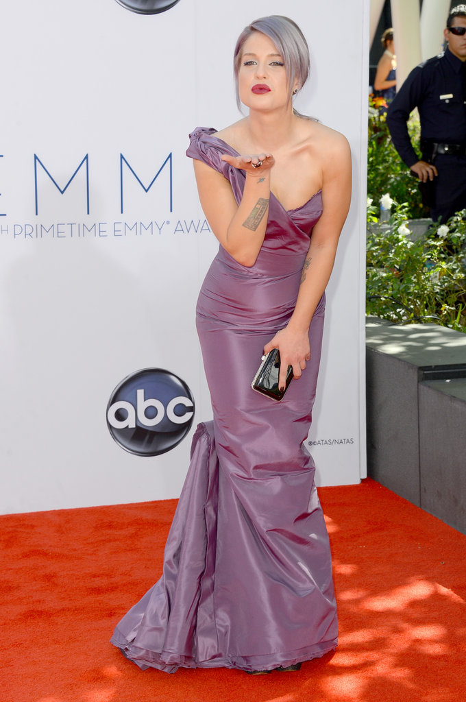 Kelly Osbourne Goes Purple From Head to Toe at the 2012 Emmys