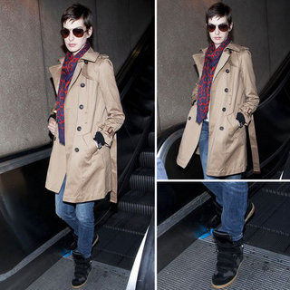 Anne Hathaway Wearing Isabel Marant Sneakers