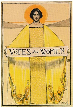 This vintage poster looks more like votes for angels.