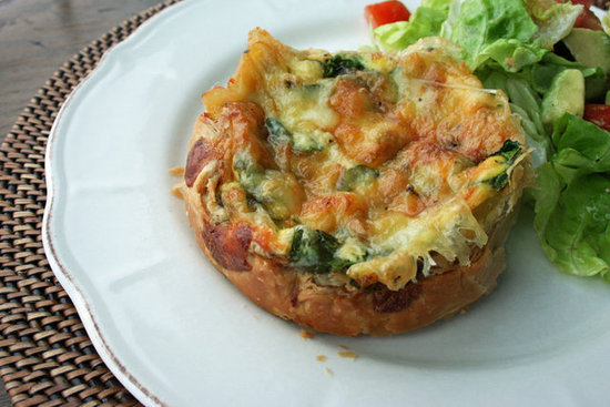 Individual Bacon and Spinach Quiches
