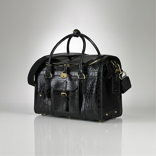 Ralph Lauren Crocodile Pet Carrier