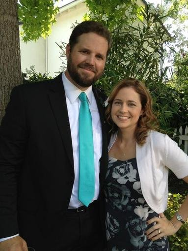 Jenna Fischer gave us a preview of an old friend to look forward to on The Office this week. Source: Twitter user jennafischer