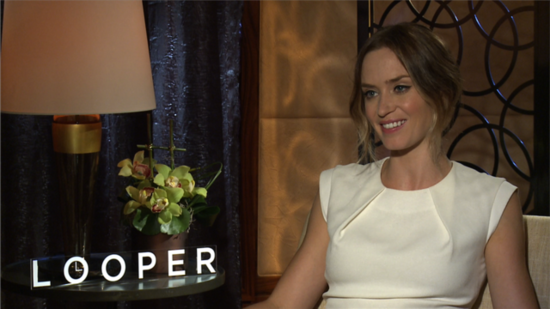 "Emily Blunt Says Working With Joseph Gordon-Levitt in Looper ""Was Like Working With a Stranger"""