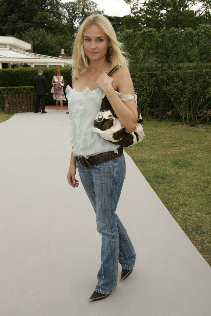 Diane Kruger headed to the Dior collection in July 2004.