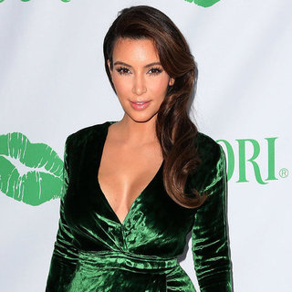 Kim Kardashian in Green Gucci Dress | Pictures