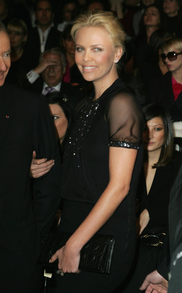 Charlize Theron arrived at the Christian Dior show in March 2009.