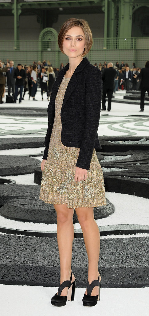 Keira Knightley attended the Chanel fashion show in October 2010.