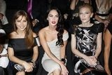 Elsa Pataky, Megan Fox, and Cate Blanchett sat together at Giorgio Armani in July 2009.