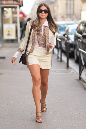 Inject a side of feminine glam into your short-suit ensemble by way of one killer pair of heels.