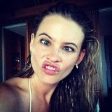 Behati Prinsloo made a silly face for the camera. Source: Instagram user behatiiprinsloo