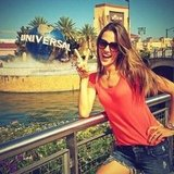 Alessandra Ambrosio spent a day at Universal Studios. Source: Twitter user AngelAlessandra