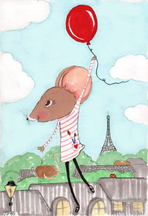 With her striped shirt and the Eiffel Tower in the distance, this Madeline the Mouse print ($20) has plenty of Parisian charm.