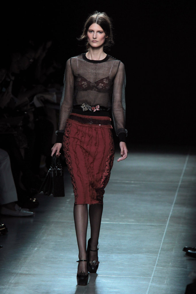 Sheer blouse at Bottega Veneta in Milan.