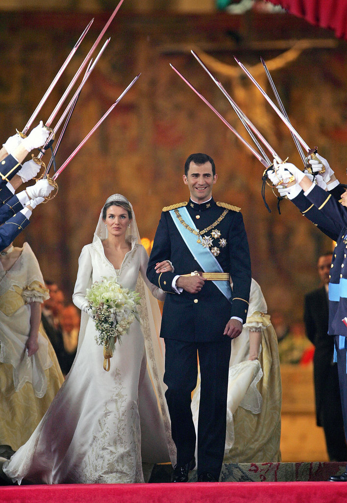 Prince Felipe and Letizia Ortiz   The Bride: ‪Letizia Ortiz, former divorced journalist. ‬ The Groom: Felipe, Prince of Asturias, the heir apparent to the Spanish throne. When: May 22, 2004. No one suspected the serious rela