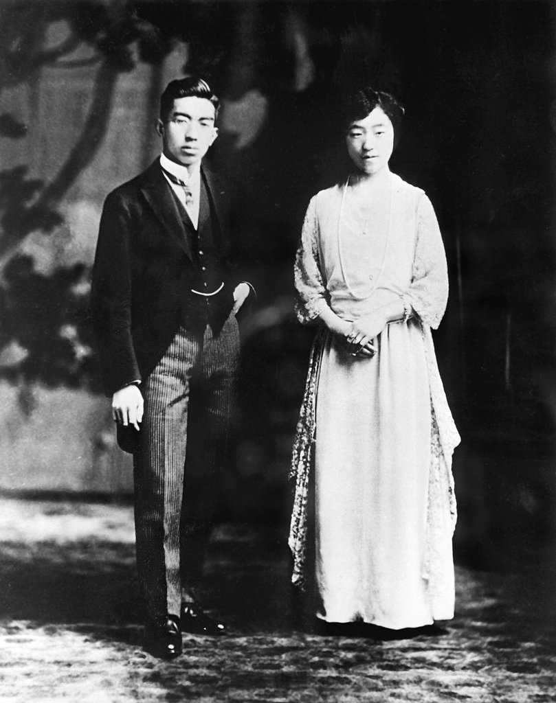 Emperor Hirohito and Empress Nagako The Bride: Princess Nagako, the groom's distant cousin. The Groom: Hirohito, Crown Prince of Japan, who would become the emperor of Japan. He abandoned his 39 court concubines upon his marriage to the empress. When: Jan. 26, 1924. Where: Tokyo.