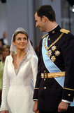 Prince Felipe and Letizia Ortiz   The Bride: ‪Letizia Ortiz, former divorced journalist. ‬ The Groom: Felipe, Prince of Asturias, the heir apparent to the Spanish throne. When: May