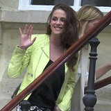 Kristen Stewart at Balenciaga Show in Paris (Video)