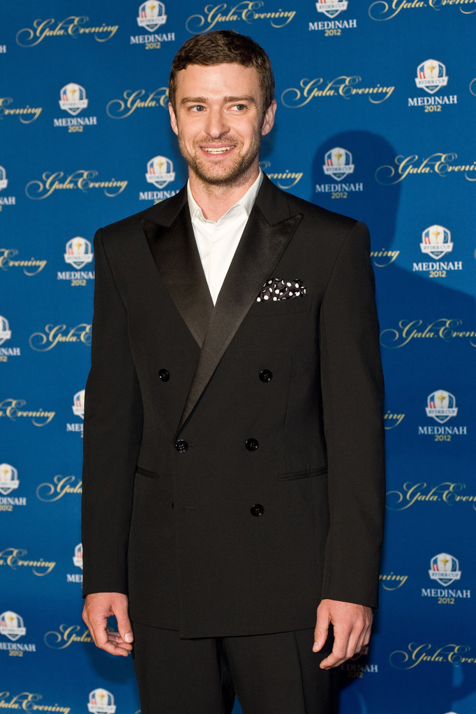 Justin Timberlake was all smiles at the event.