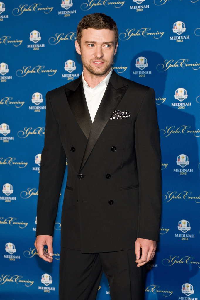 Justin Timberlake walked onto the red carpet.