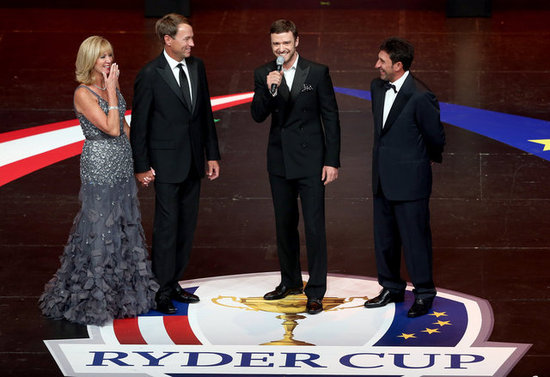 Justin Timberlake took the stage at the Ryder Cup Gala.