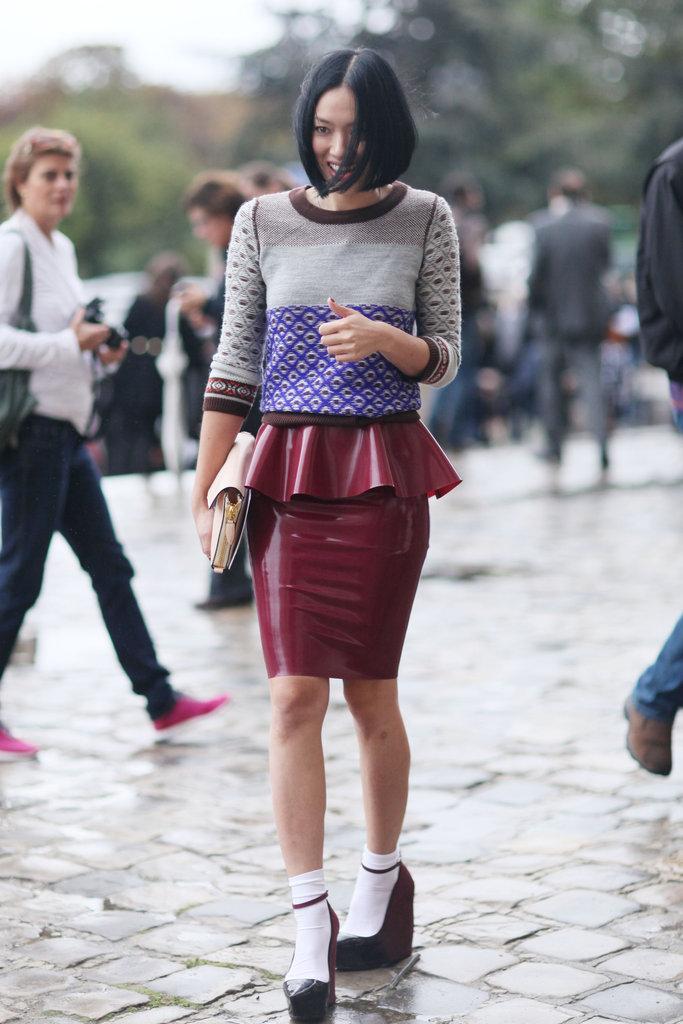 Paris fashion week street style spring Fashion week paris 2013 street style