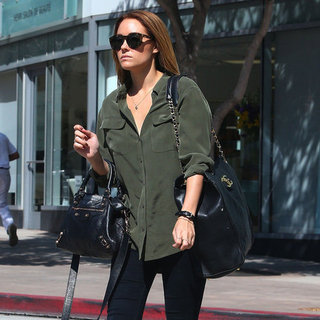 Lauren Conrad Wearing Olive Green Top