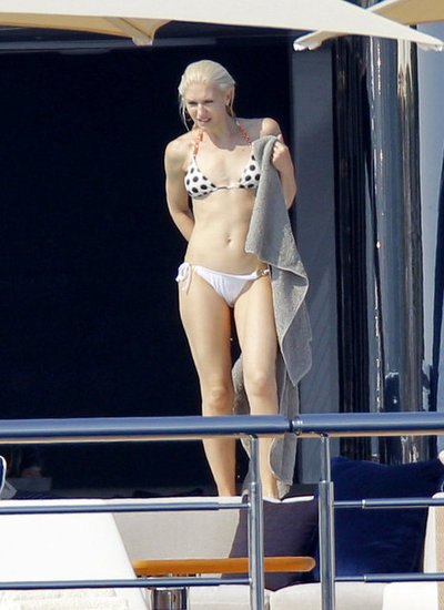 Gwen Stefani took a dip while hanging out on a friend's yacht in Cannes in May 2011.