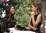 Nina Dobrev was all smiles as she talked with Maria Menounos.