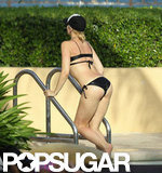 Gwen Stefani's rocking backside got a boost from a sexy black bikini during a trip to Miami in August 2012.