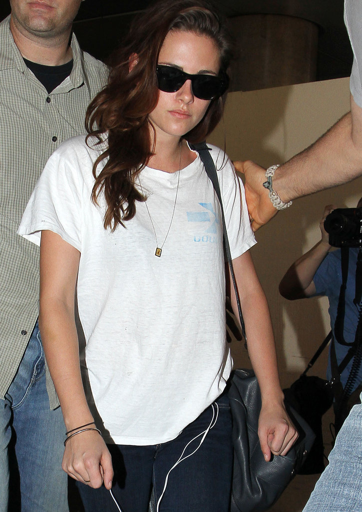 Kristen Stewart walked through LAX towards the exit.