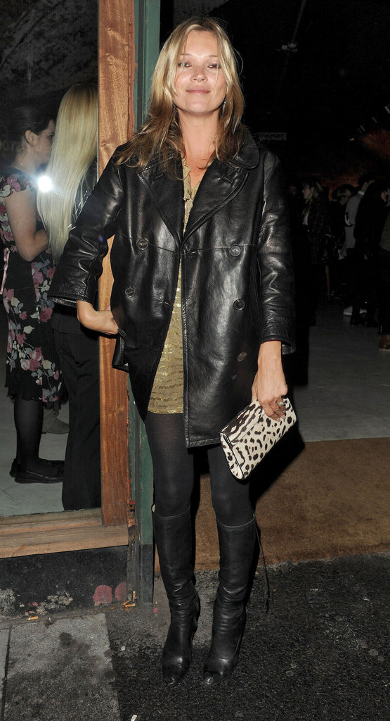 Kate Moss smiled for photos at the photography book launch party for The Kills.