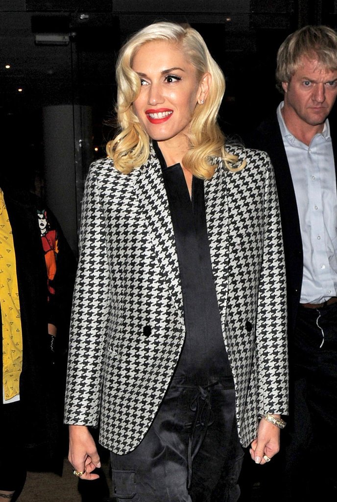 Gwen Stefani smiled during a night out in London.