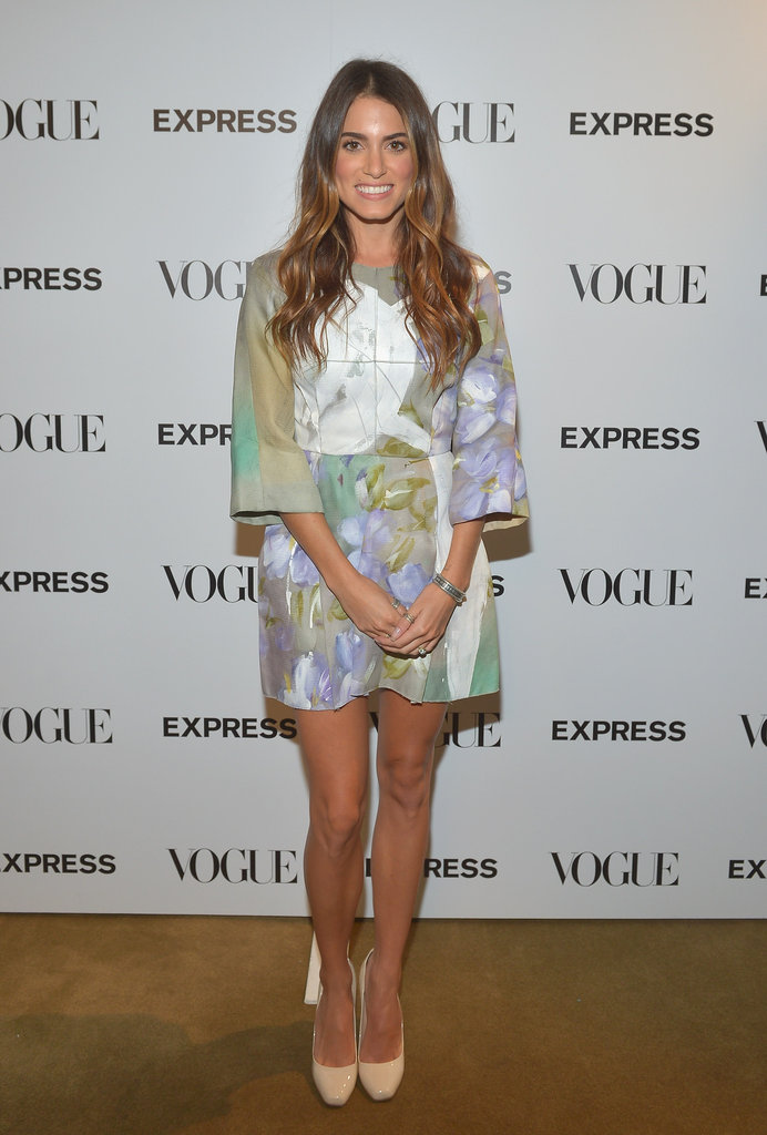 Nikki Reed brought a sweet Dolce & Gabbana cocktail dress to Vogue and Express's celebration in Hollywood.