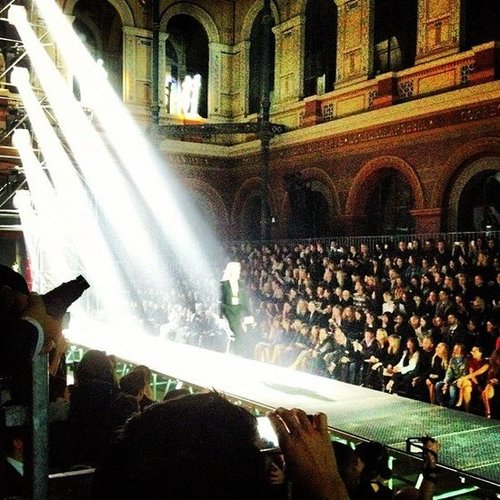 The lighting was dramatic and the clothes were gorgeous at the Lanvin show during Paris Fashion Week.
