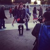 Fashionologie Editor Christina Pérez became an impromptu model between shows during Paris Fashion Week.