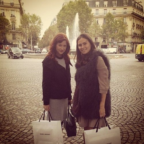 Fashionologie Editor Christina Pérez and Style Director Noria Morales kicked off Paris Fashion Week with a little shopping at the new Isabel Marant store.