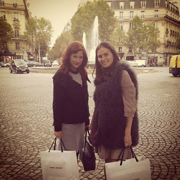 Fashionologie Editor Christina Perez and Style Director Noria Morales kicked off Paris Fashion Week with a little shopping at the new Isabel Marant store.